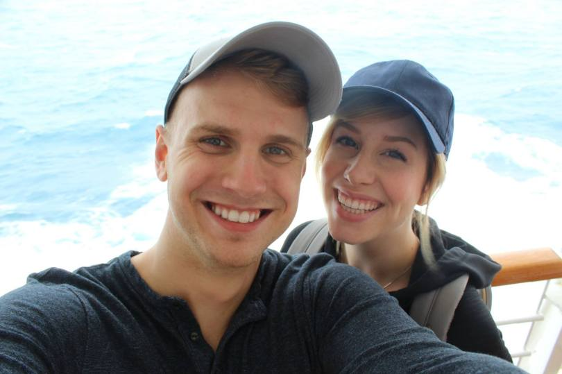 Photo of Josh and Lauren Bowen on Alaska cruise.